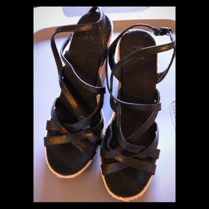 New York and company navy wedges EUC 8 like new